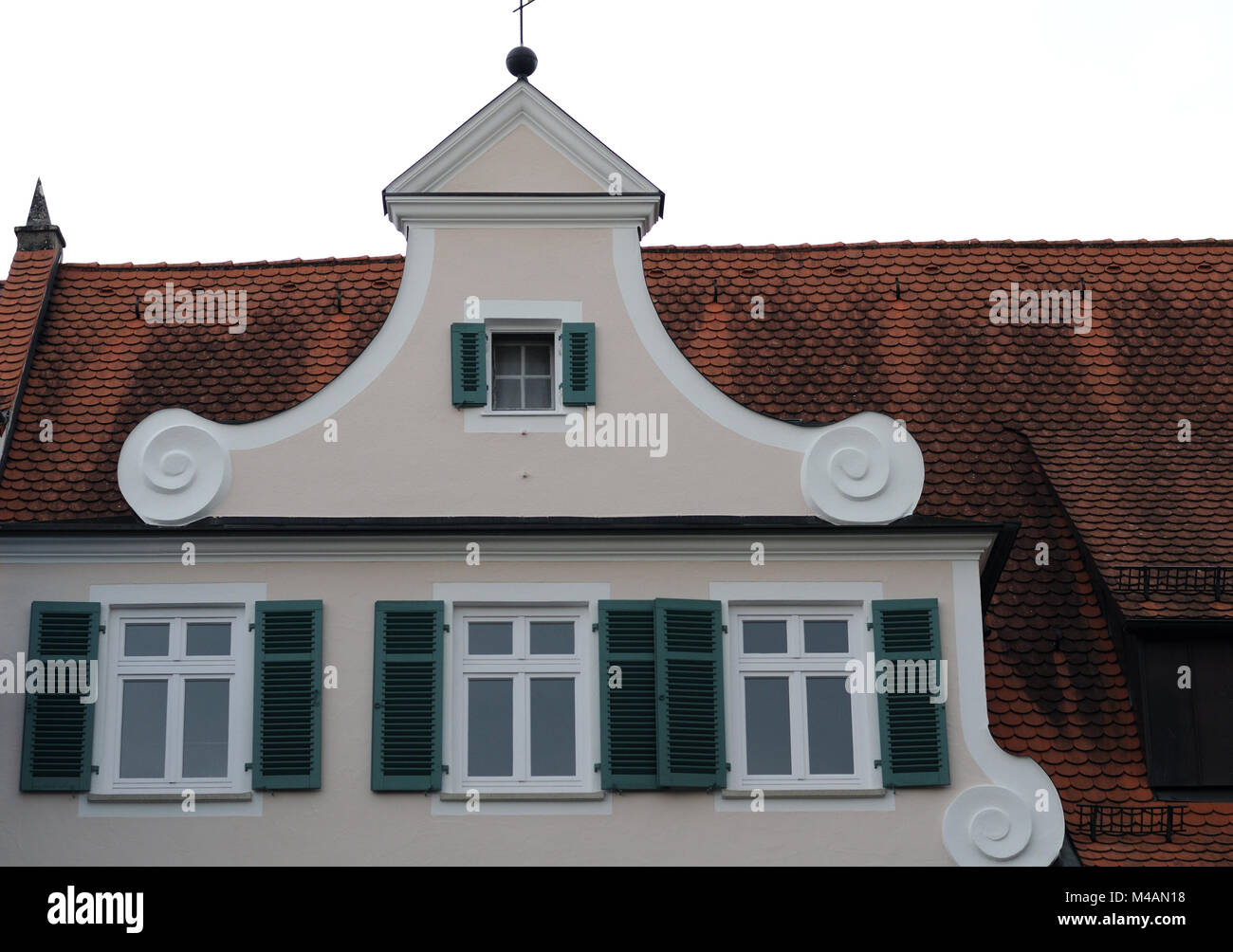 dutch gable at historic building - Stock Image