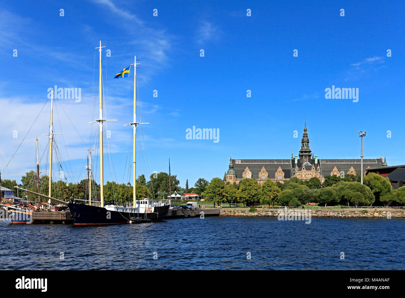 Stockholm / Sweden - 2013/08/01: Djurgarden Island - Nordic Museum - historical and contemporary museum of Swedish - Stock Image