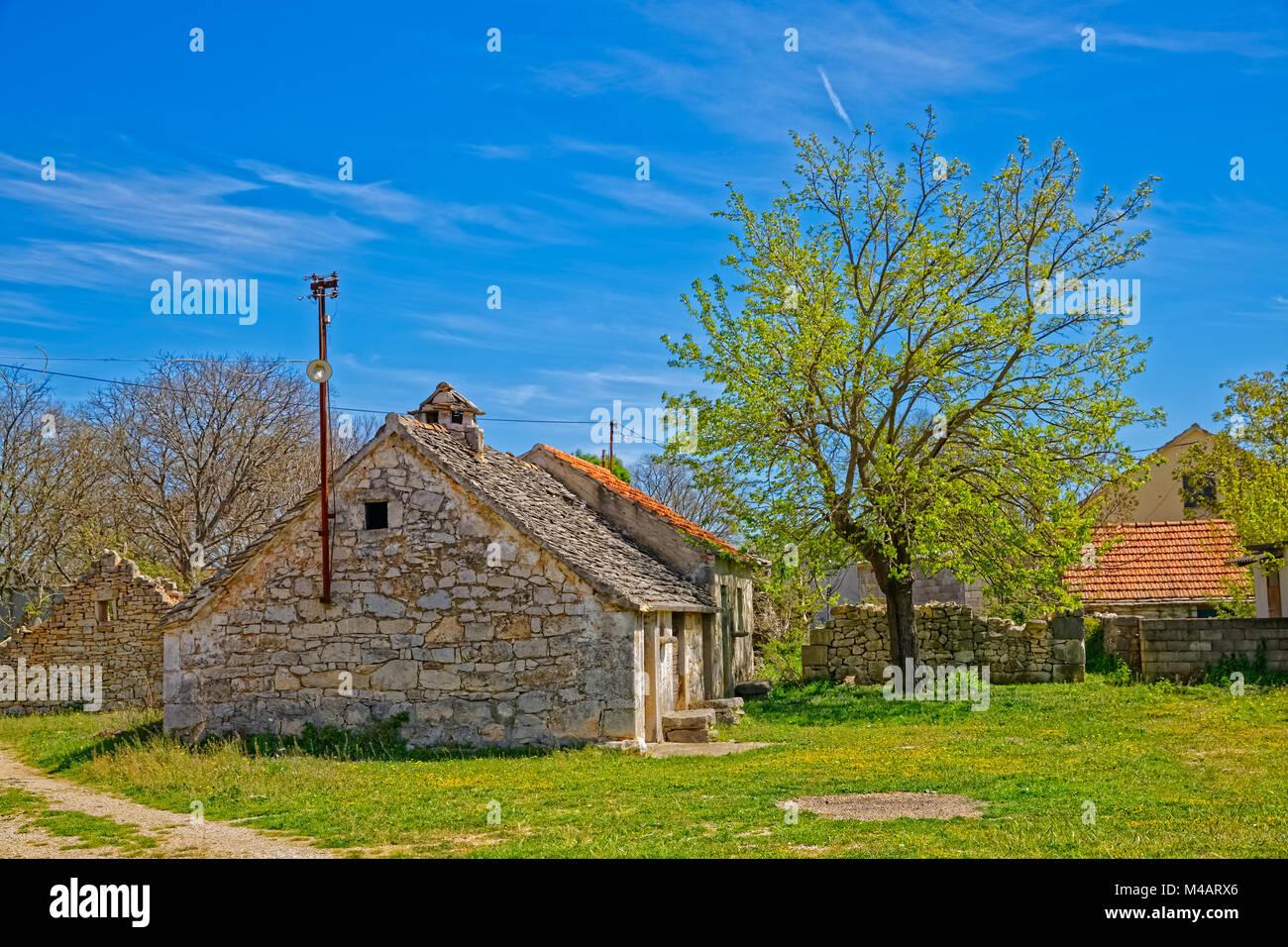Pakovo selo village - Stock Image