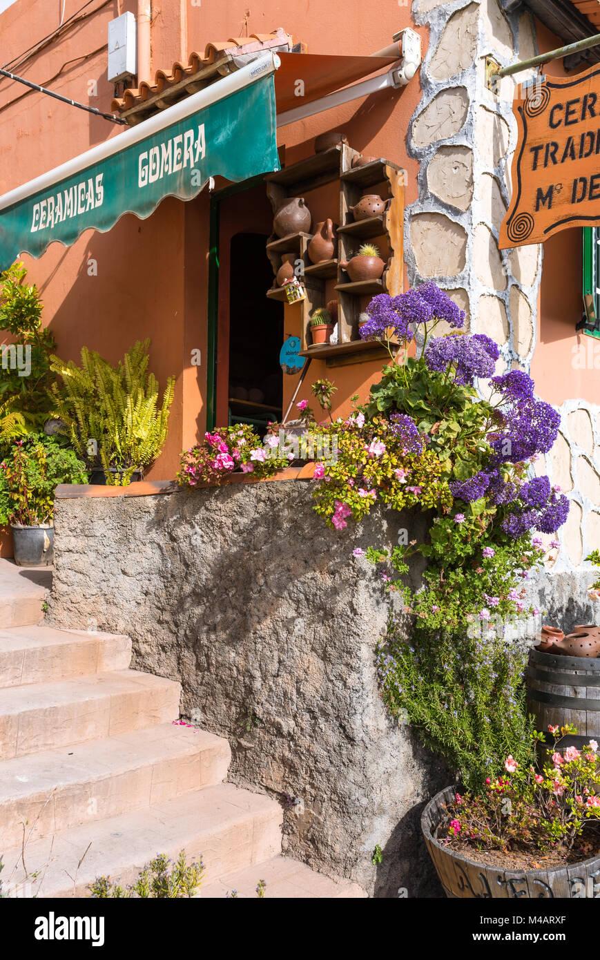 Arts and Crafts in El Cercado La Gomera - Stock Image