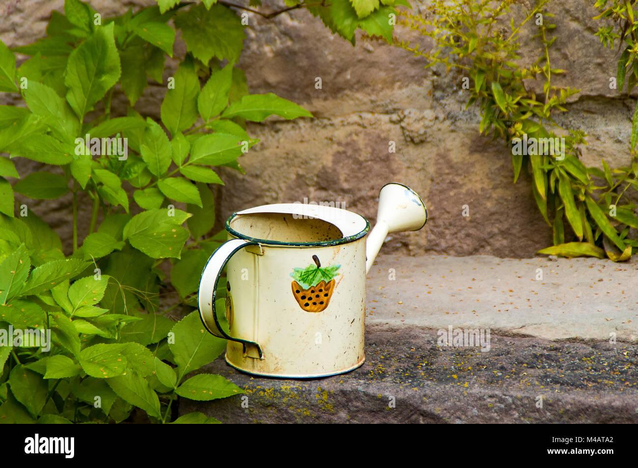 watering pot - Stock Image