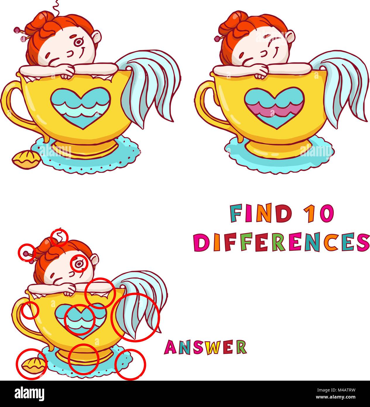 This is a picture of Find the Difference Printable within printable free