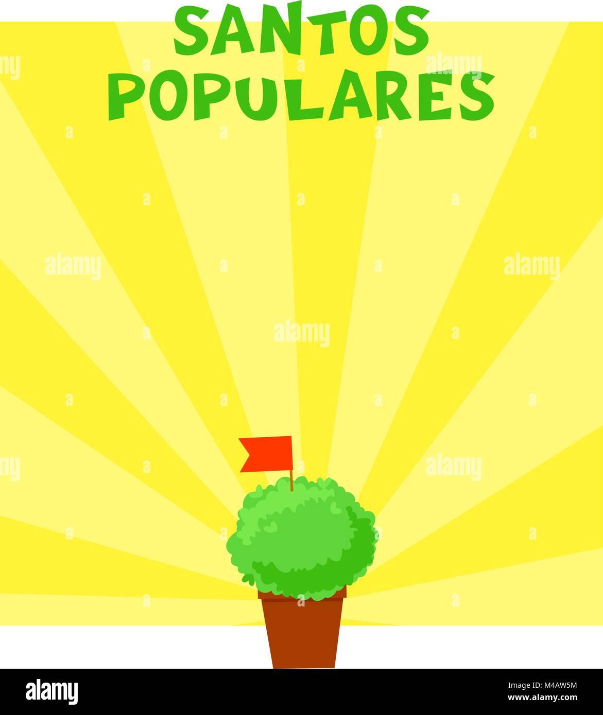 Postuguese Santos Populares banner - Stock Vector