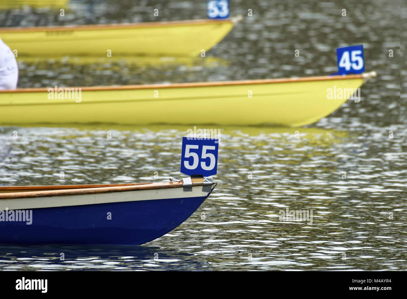 Rowing Race - Stock Image