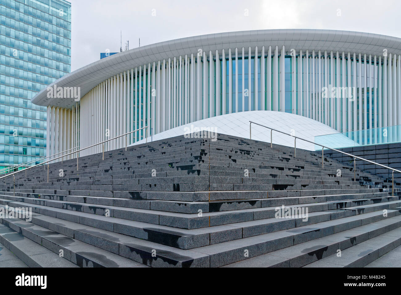 Philharmonic concert hall,European district,Kirchberg plateau,Luxembourg City,Luxembourg - Stock Image