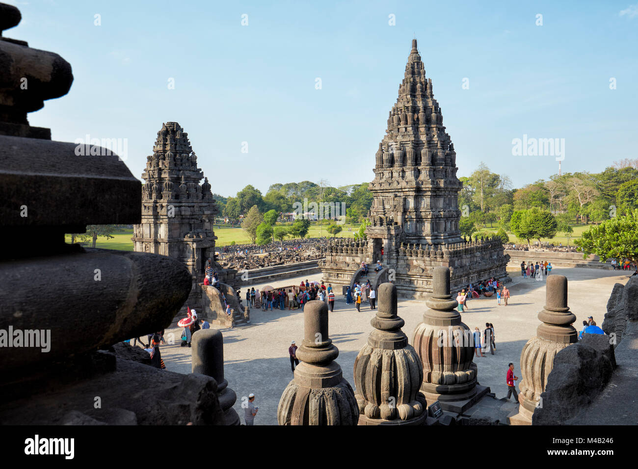 Prambanan Hindu Temple Compound. Special Region of Yogyakarta, Java, Indonesia. - Stock Image