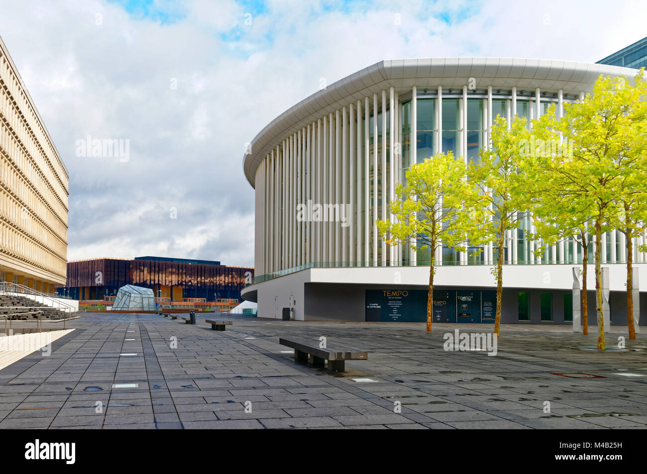 Luxembourg,philharmonic concert hall,Place de l'Europe,European district,Luxembourg City, - Stock Image