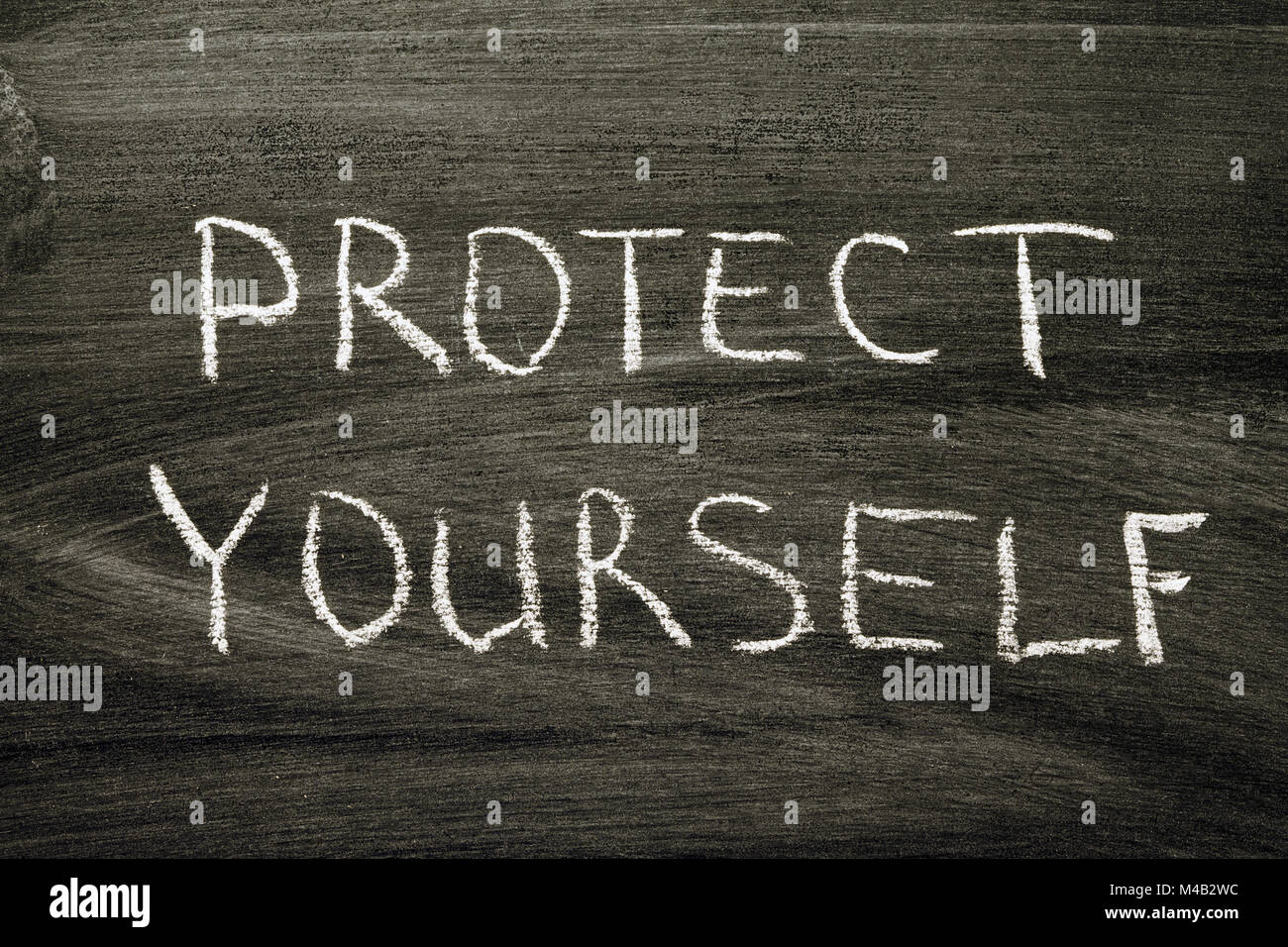 protect yourself - Stock Image