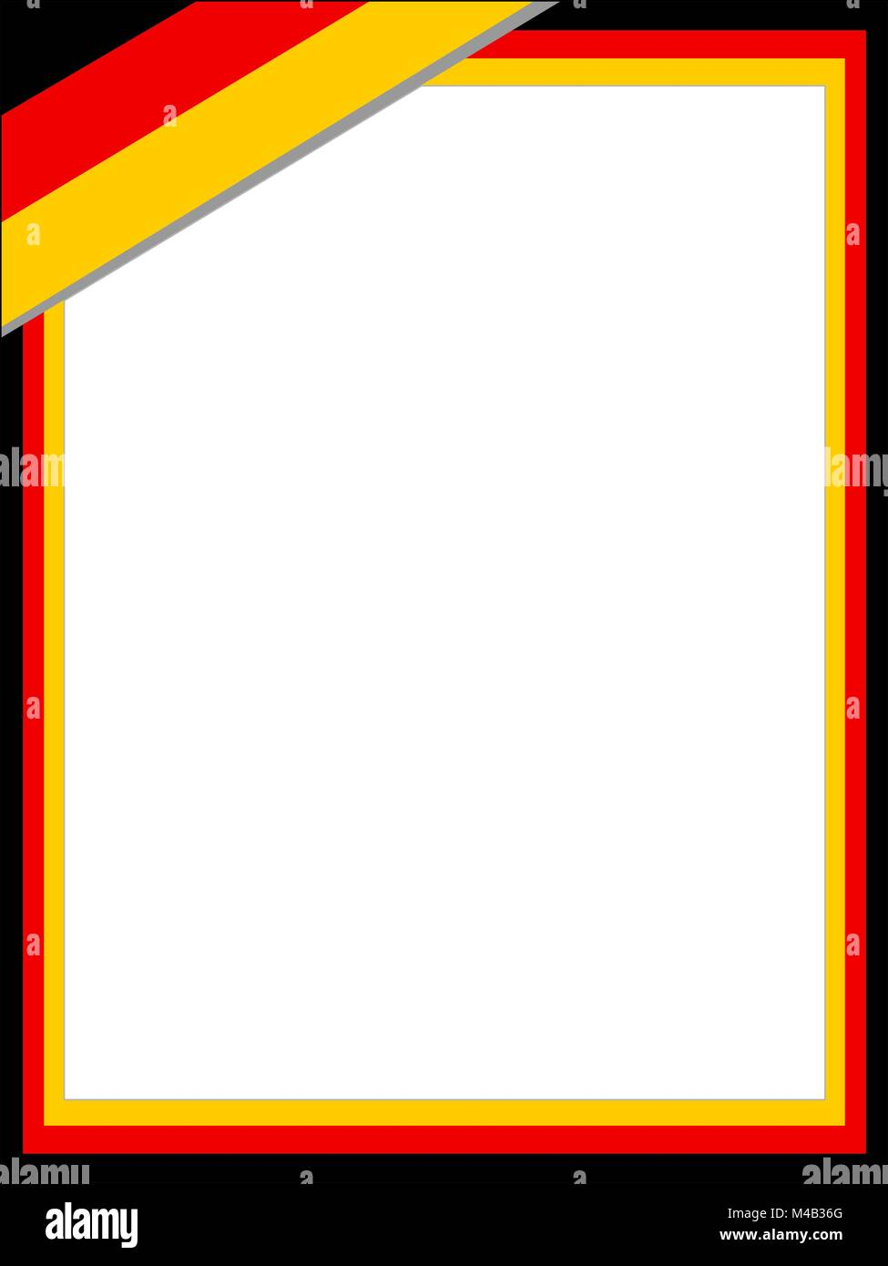 German abstract flag frame with empty space for text. - Stock Vector