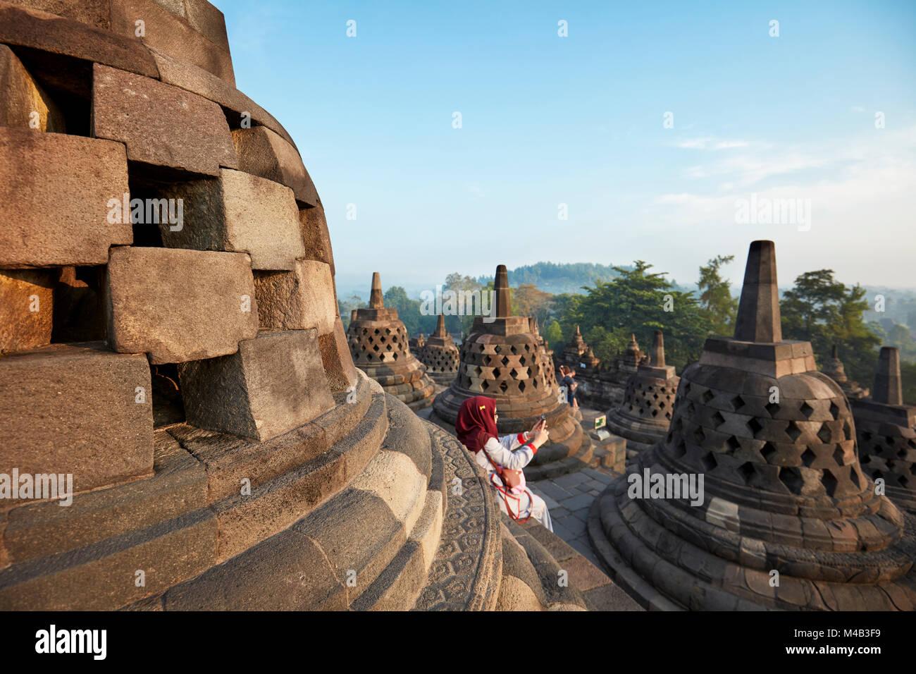 Borobudur Temple In Indonesia Stock Photos Borobudur