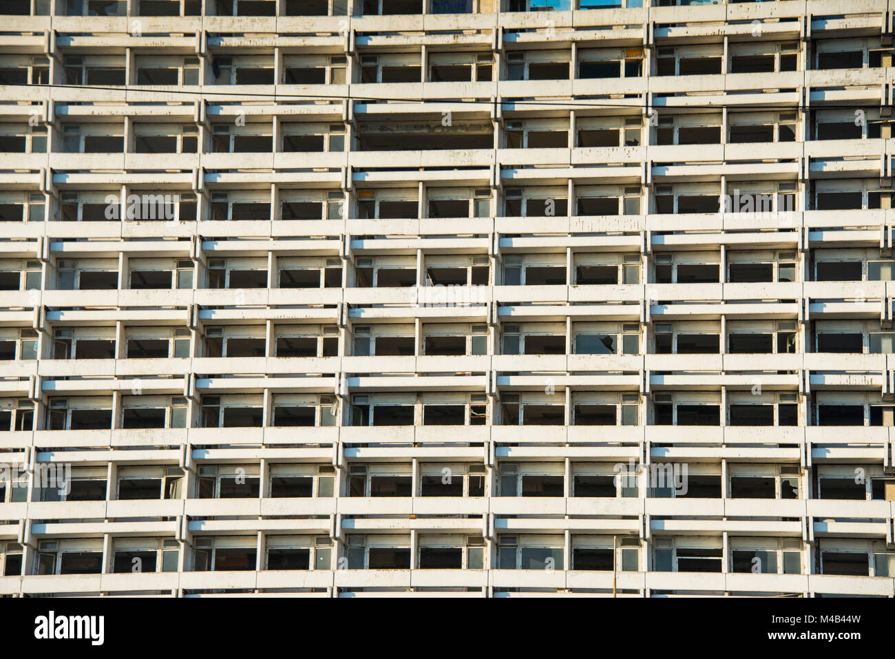 Apartment building in Chisinau,capital of Moldova,Eastern Europe - Stock Image