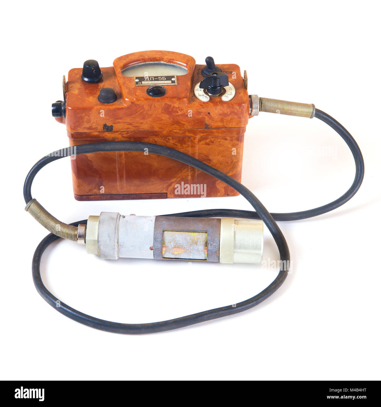 Geiger Counter Stock Photos Images Alamy Wiring Diagram Isolated On White Old Image