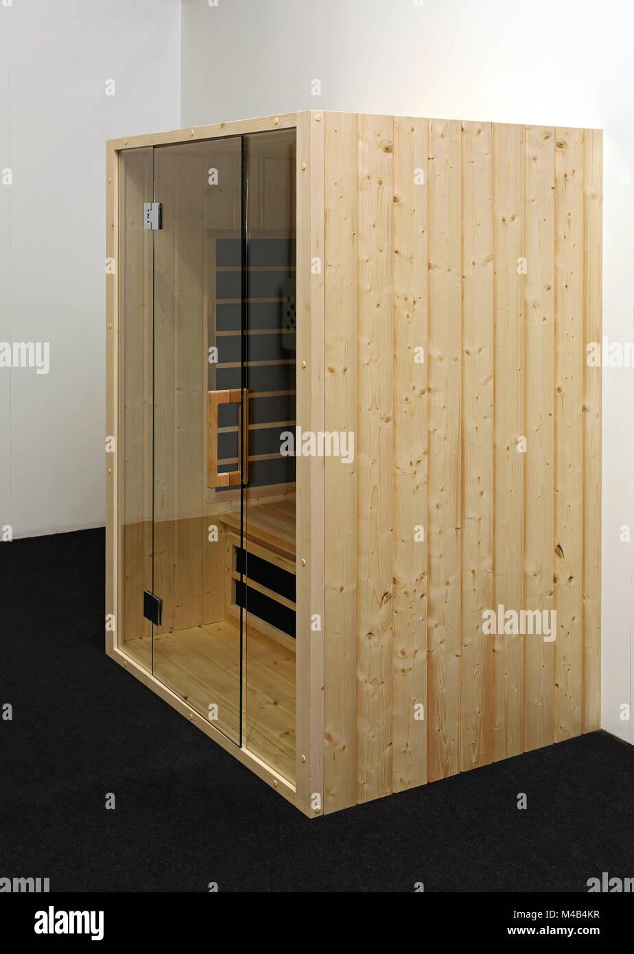 Small Wooden Box Sauna in Home Stock Photo: 174807467 - Alamy