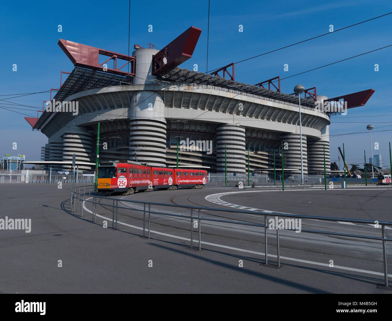 Stadio Giuseppe Meazza, Milan, Lombardy, Italy. Stock Photo