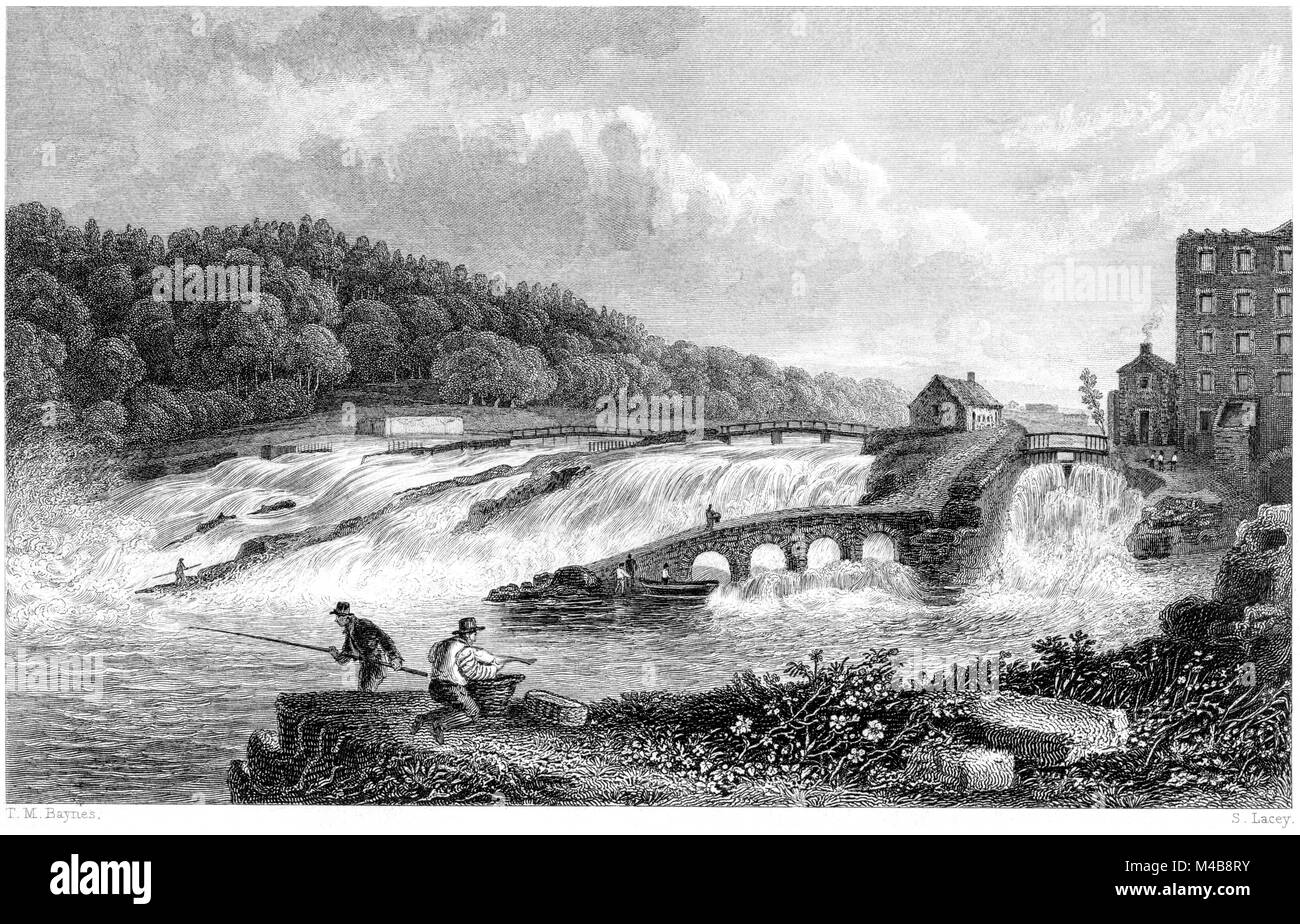 An engraving of the Coleraine scanned at high resolution from a book printed in 1833.  Believed copyright free. - Stock Image