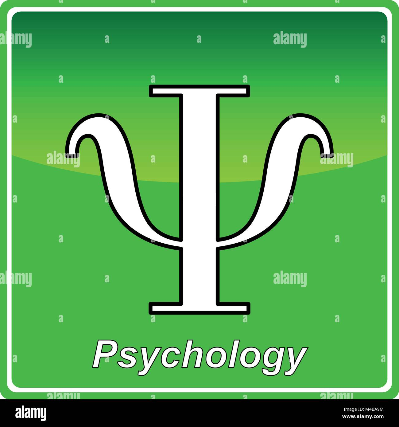 Psychology green icon - vector - Stock Vector