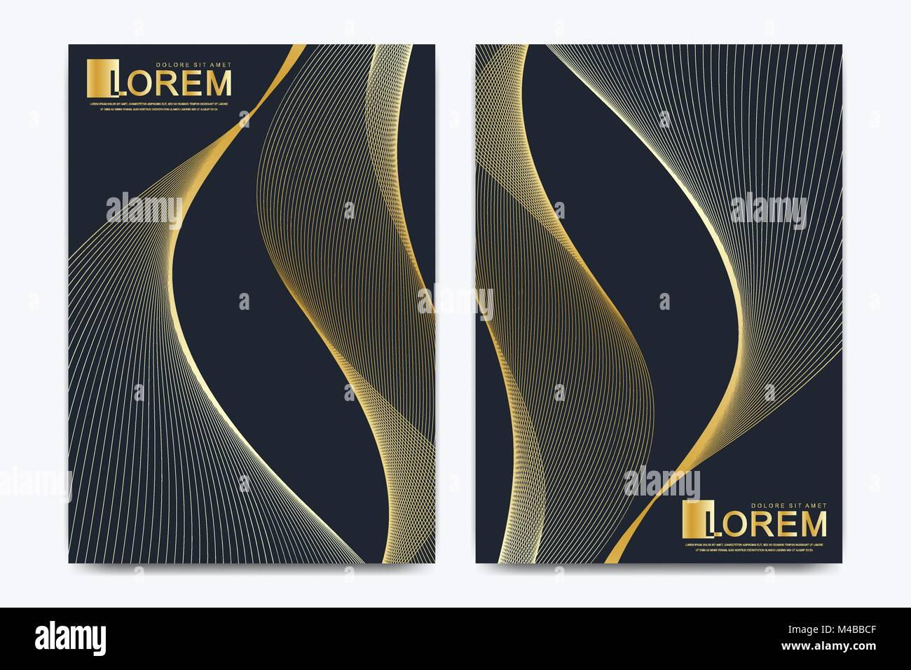 Modern vector template for brochure Leaflet flyer advert cover catalog magazine or annual report. Business, science - Stock Image