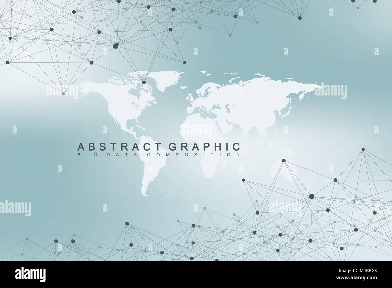 World map with global technology networking concept digital data world map with global technology networking concept digital data visualization lines plexus big data background communication scientific vector gumiabroncs Image collections