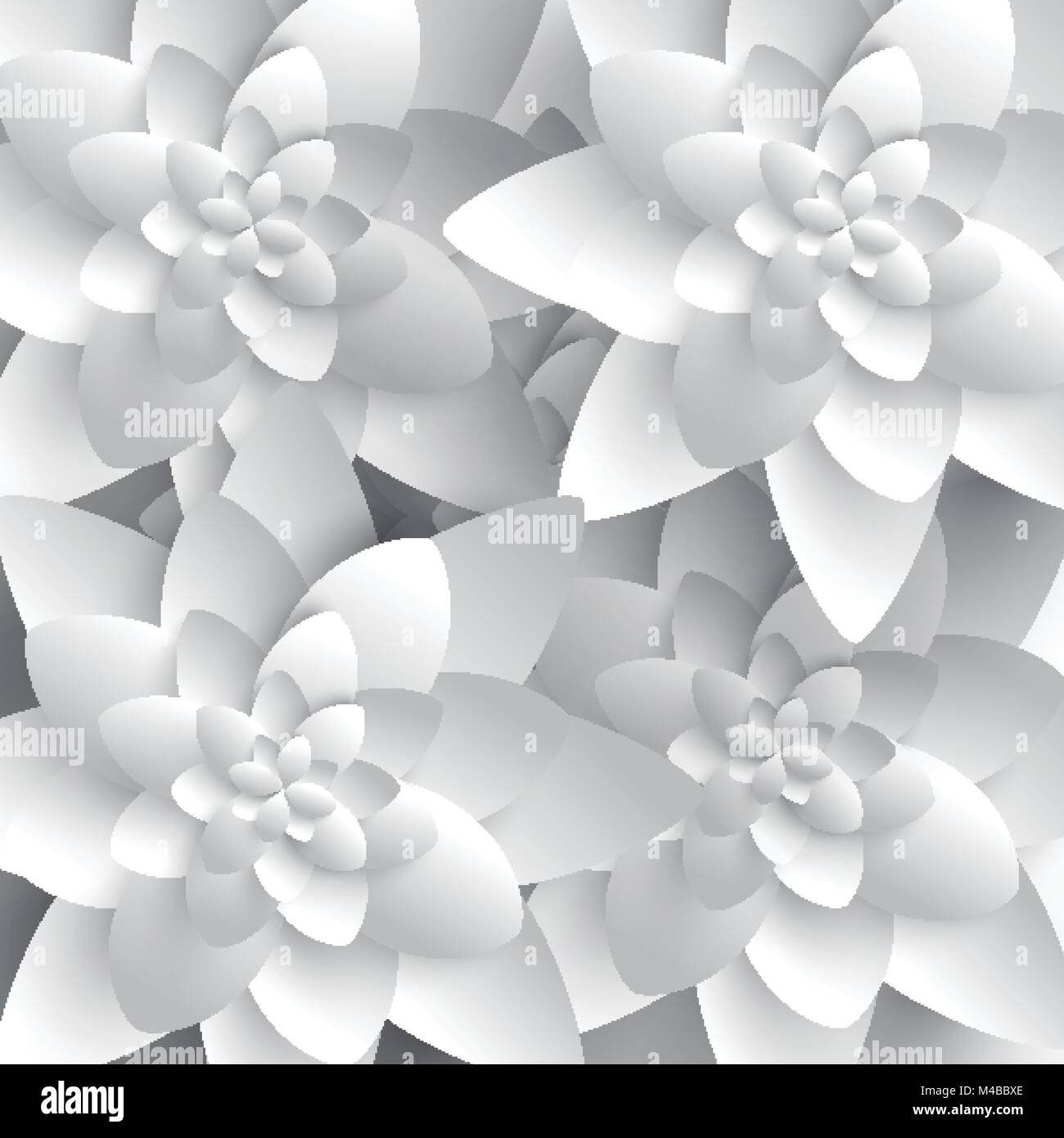 Abstract 3d Paper Flower Stock Vector Art Illustration Vector