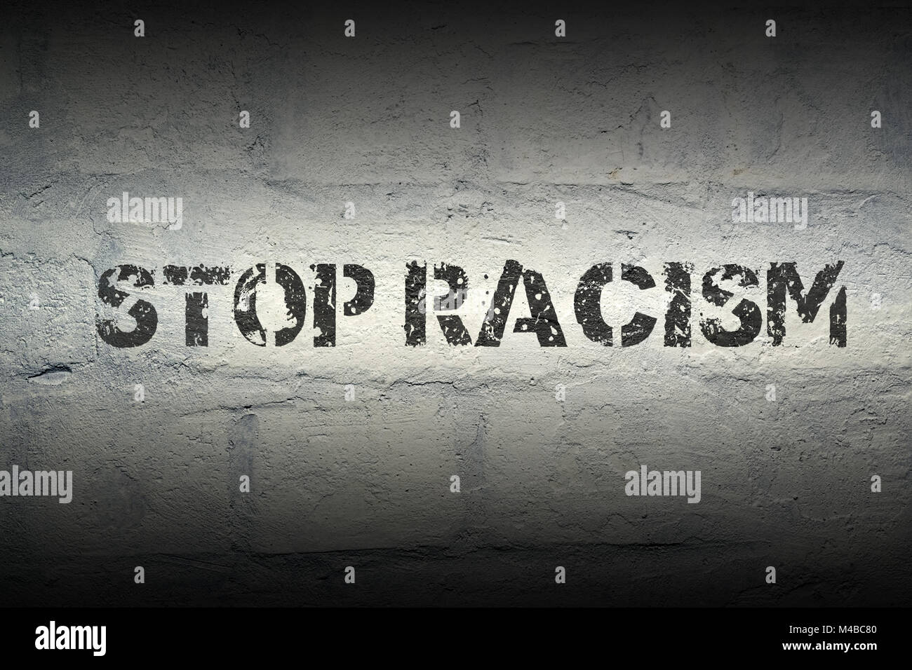 stop racism GR - Stock Image