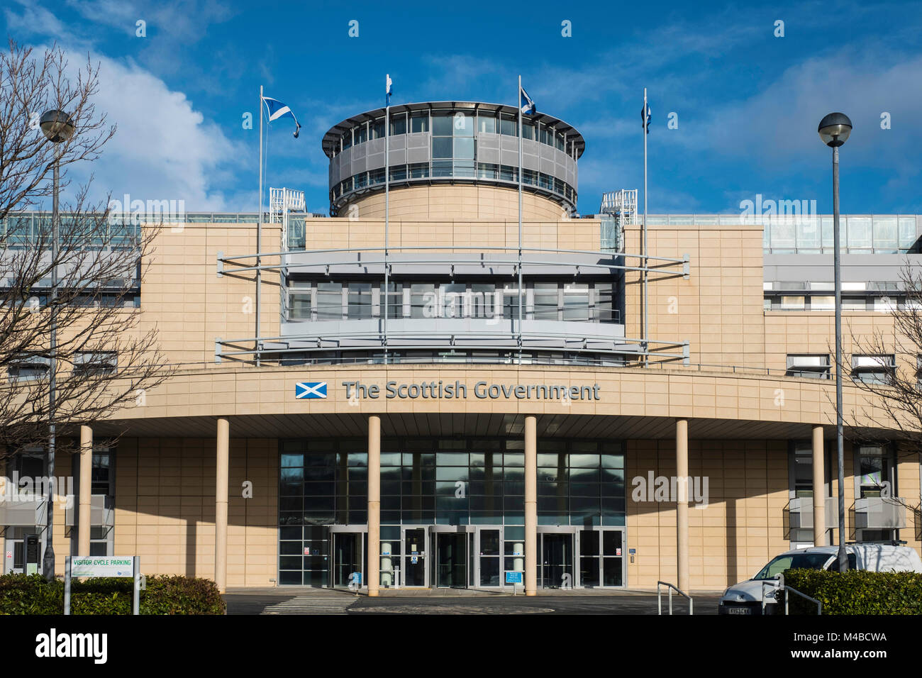 Exterior of Victoria Quay Scottish Government offices in Leith, Scotland, United Kingdom - Stock Image
