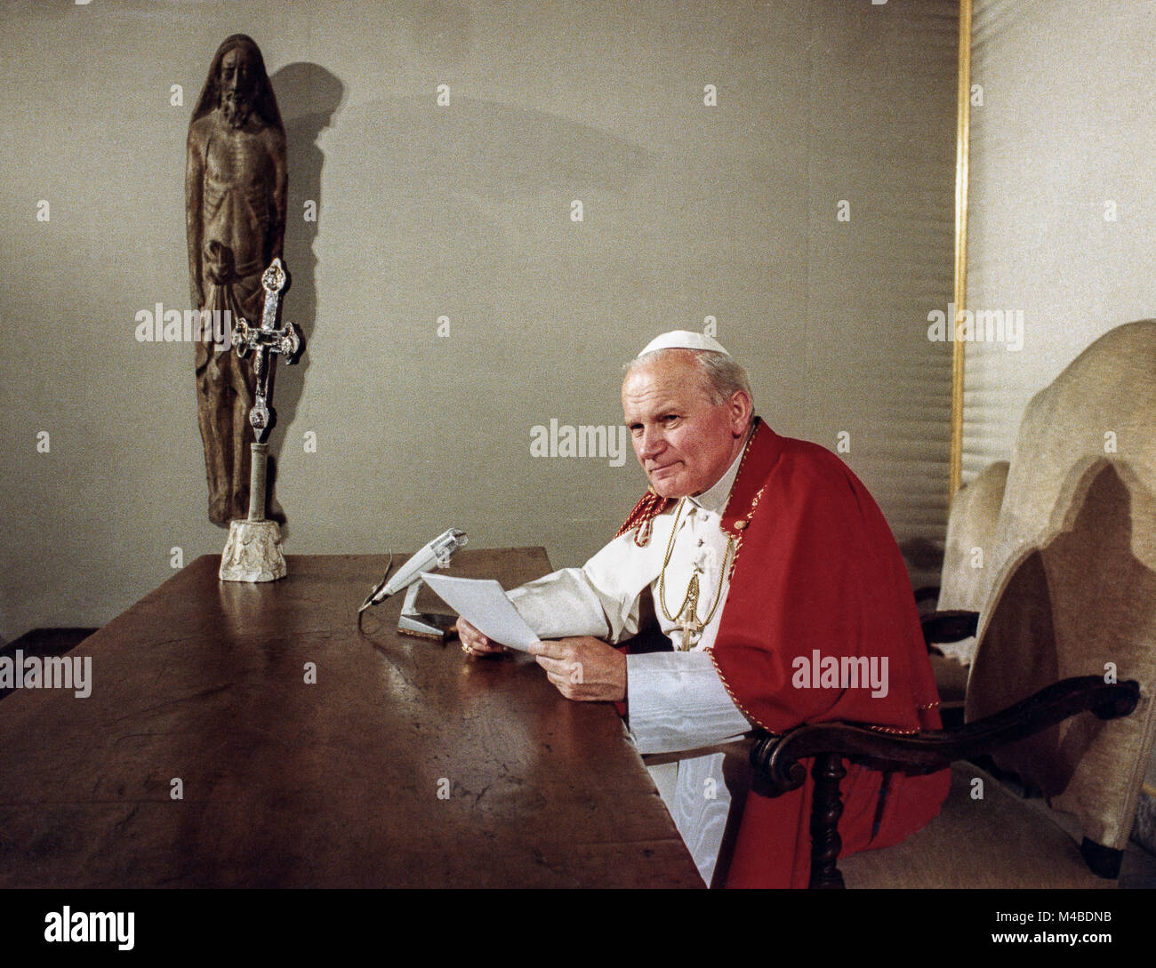 June 10, 1979 Speech by Pope John Paul II to mass media professionals in Krakow during their trip to Poland. Stock Photo