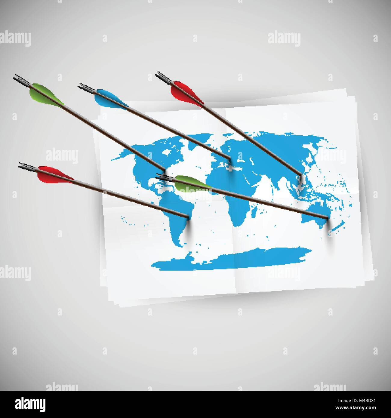 World map with arrows vector stock vector art illustration world map with arrows vector gumiabroncs Image collections