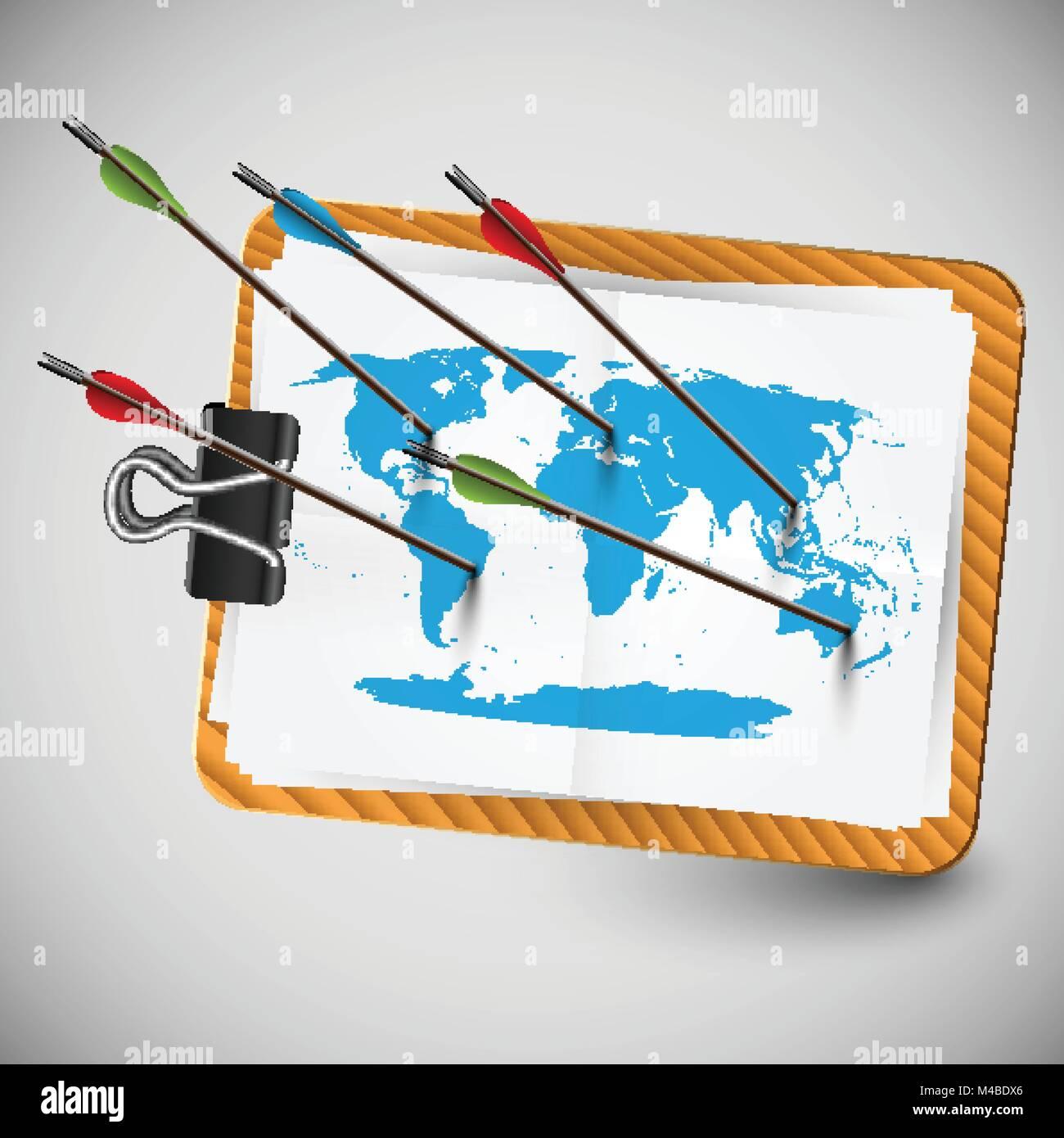 World map with arrows vector stock vector art illustration world map with arrows vector gumiabroncs Gallery