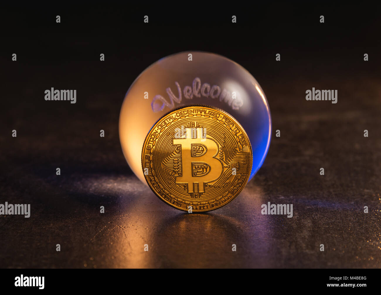 Cryptocurrency market prediction concept - Stock Image