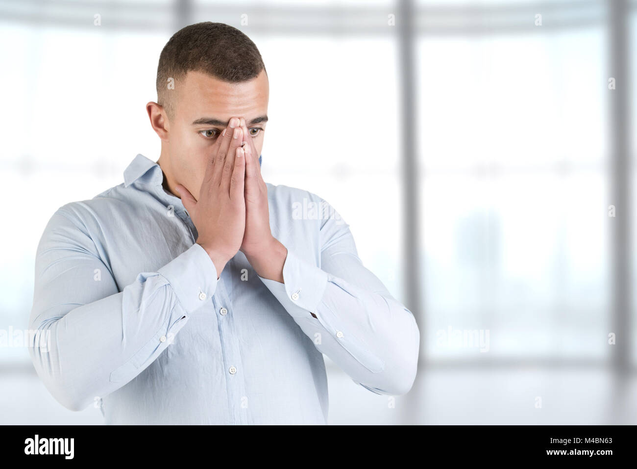 Man in stress - Stock Image