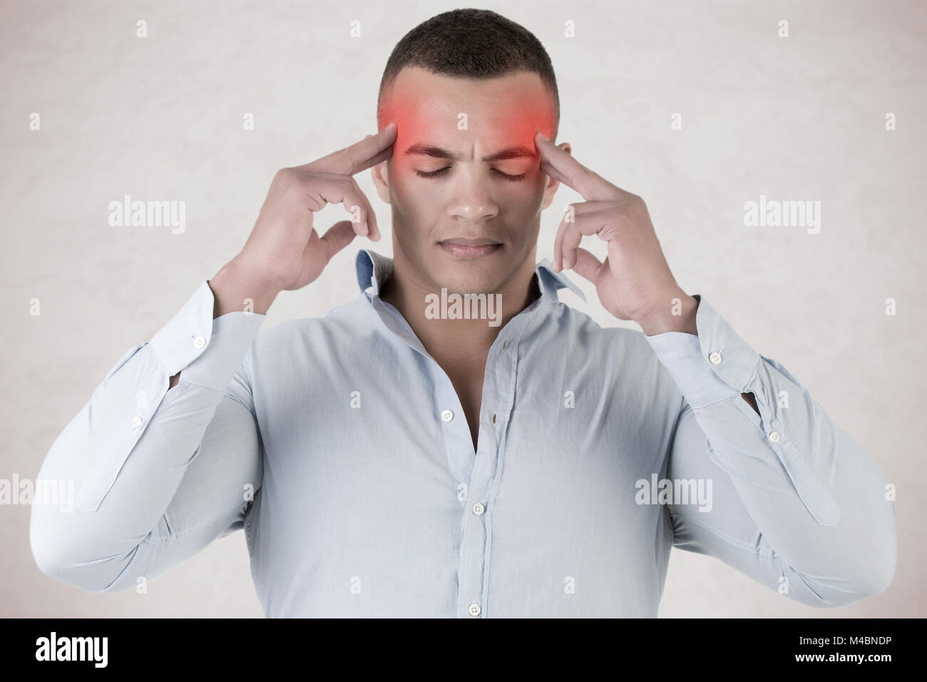 Man With An Headache - Stock Image