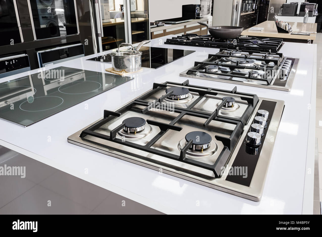 Brand new gas stoves - Stock Image