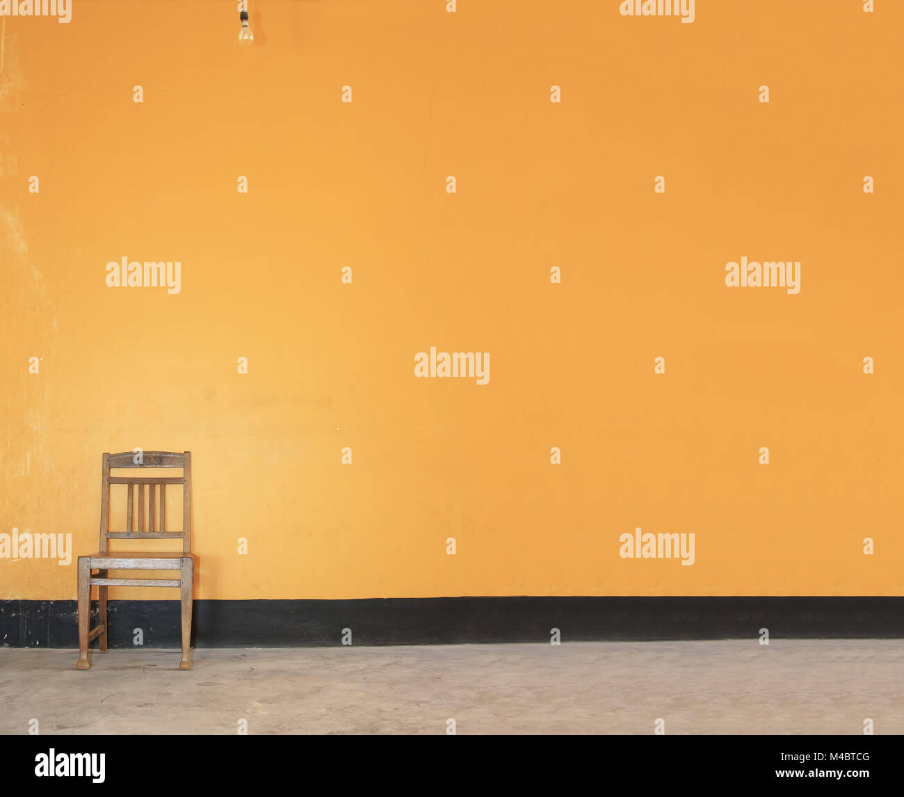 Orange Wooden Chair Stock Photos & Orange Wooden Chair Stock Images ...