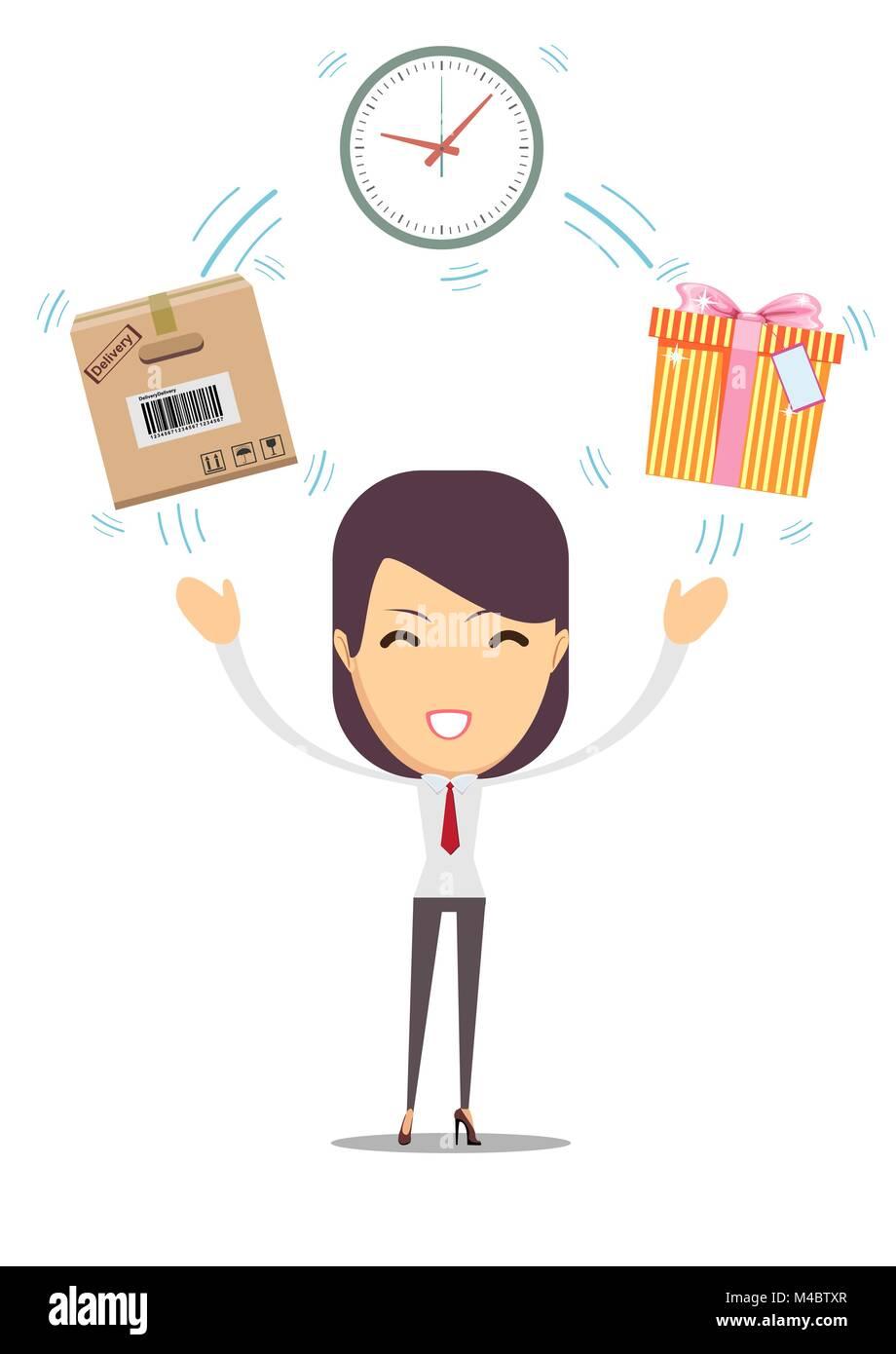Postal fast service - fast transfer. - Stock Vector