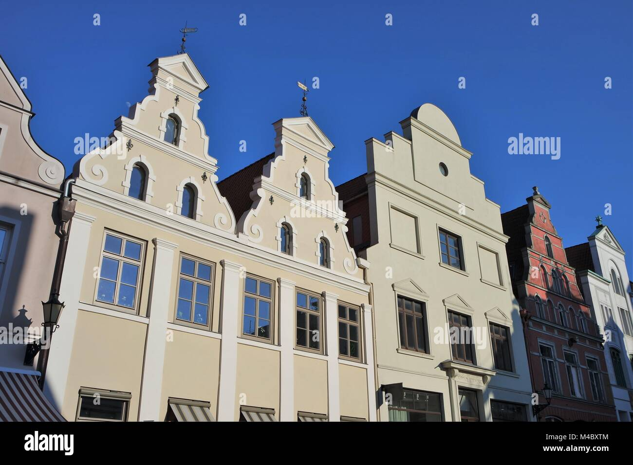 Old town architecture in Wismar - Stock Image