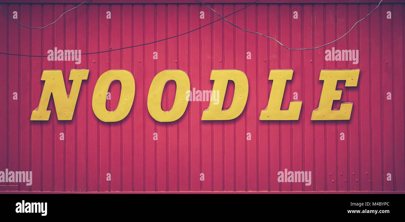 Retro Noodle Bar Sign - Stock Image