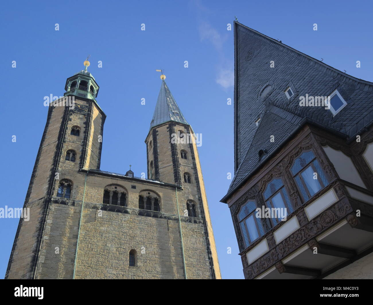 Goslar - Market Church St. Cosmas and Damian, Germany - Stock Image