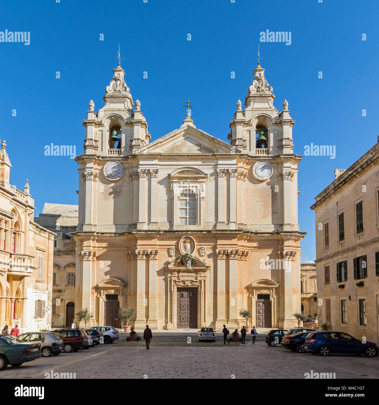 malta - central cathedral of mdina - Stock Image