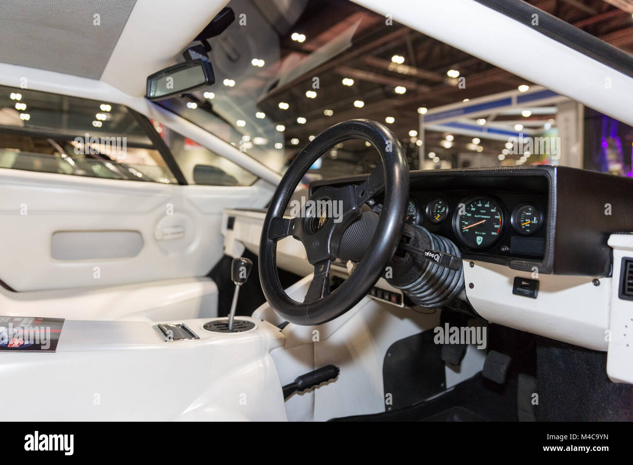 Excel London 15th Feb 2018 Interior Of A 1987 Lamborghini Stock