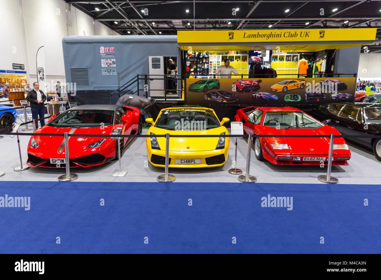 Excel London 15th Feb 2018 A Lamborghini Gallardo Spyder Middle