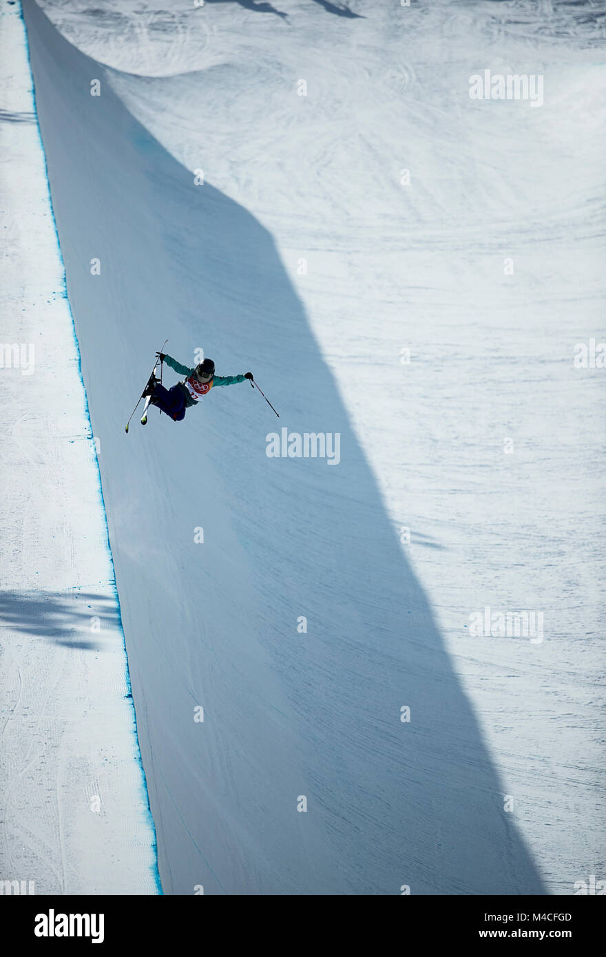 Pyeongchang, South Korea  16th Feb, 2018  Freestyle skiers