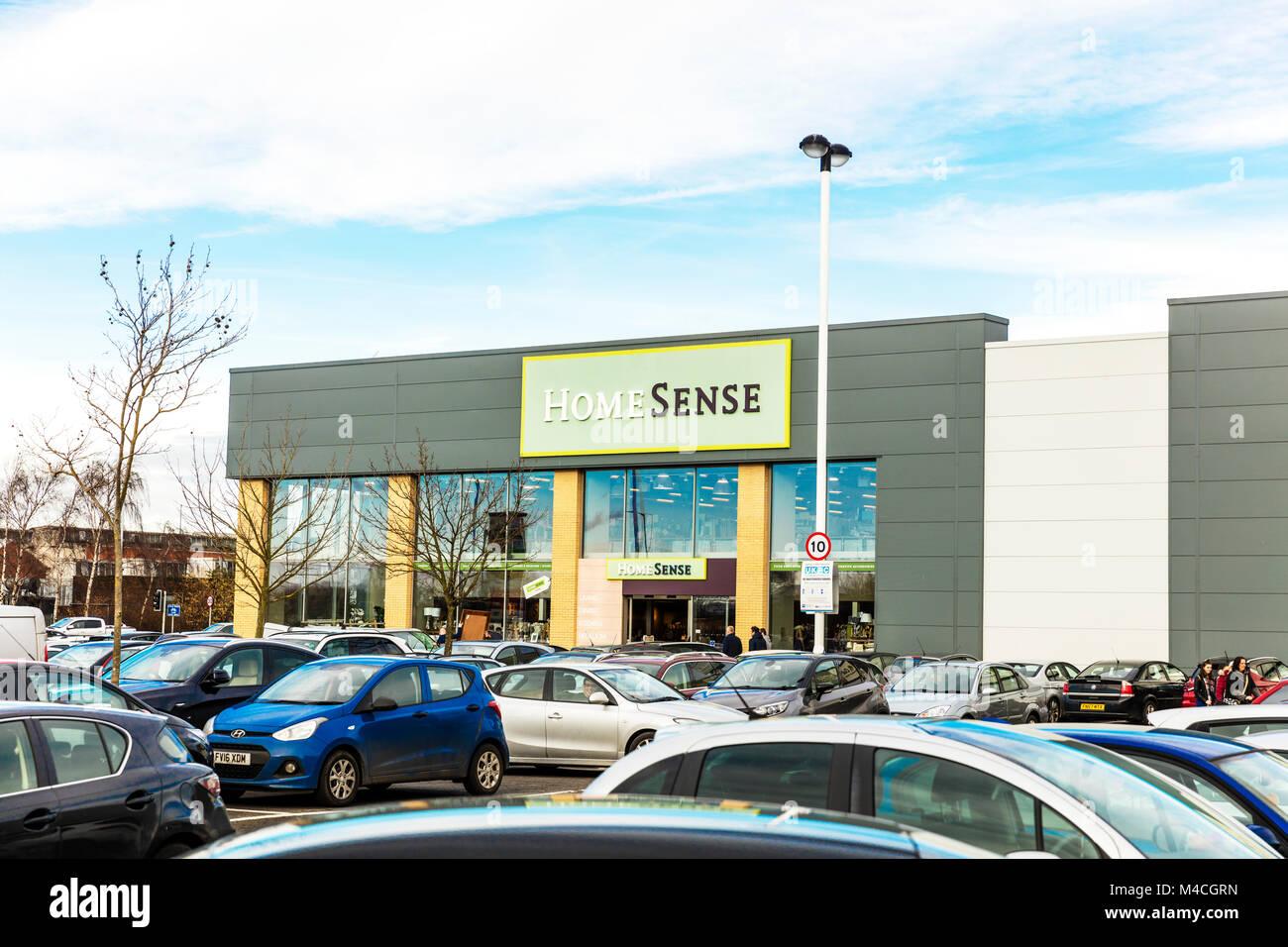 Home Sense store, Home Sense shop, Home Sense UK England, Home Sense shop sign, Home Sense interiors, Home Sense - Stock Image