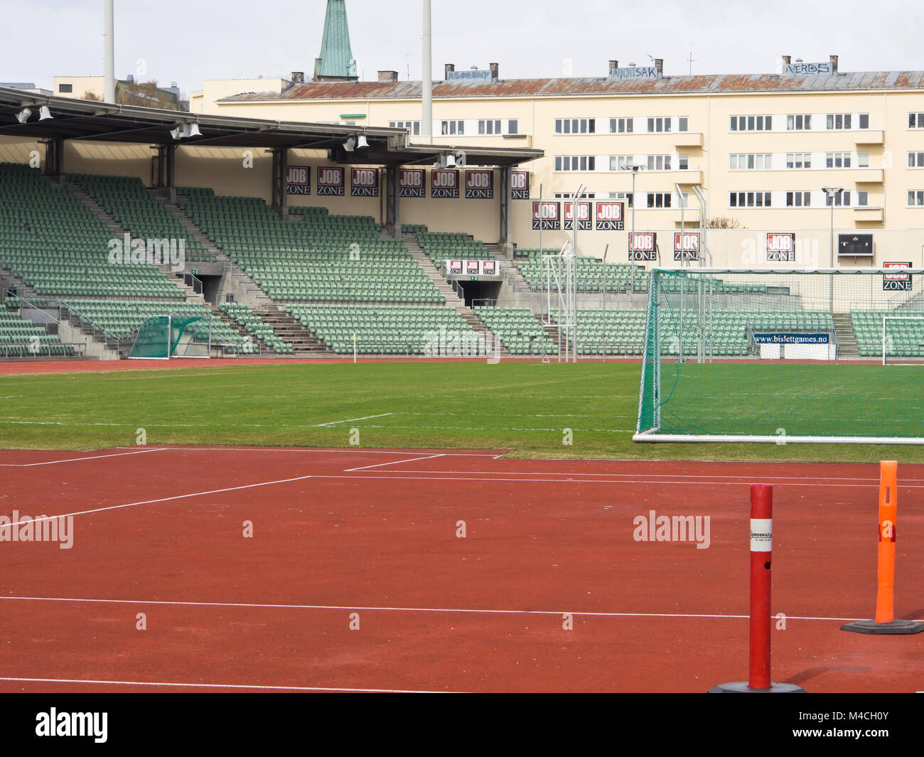 Bislett stadion (stadium) in Oslo Norway famous for the annual Bislett Games, an athletics event with world stars, - Stock Image