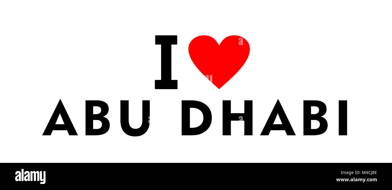Abu cut out stock images pictures alamy i love abu dhabi city uae country heart symbol stock image biocorpaavc Gallery