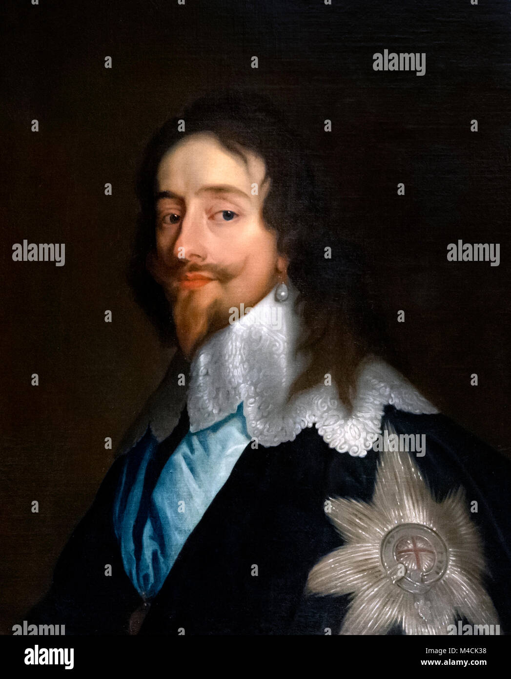 Charles I. Portrait of King Charles I of England (1600-1649) after Anthony Van Dyck, c.1641 - Stock Image