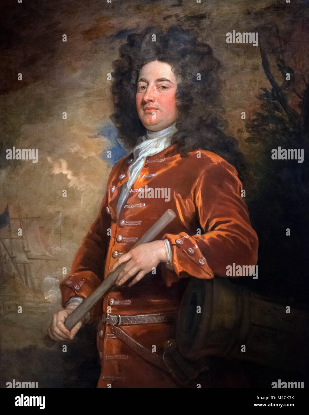 Admiral Sir John Jennings (1664-1743) by Sir Godfrey Kneller, oil on canvas, c.1708/9 - Stock Image