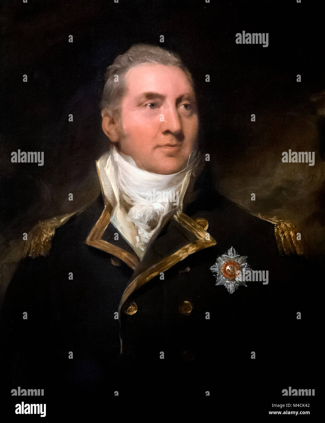 Captain Sir Edward Pellew. Portrait of Admiral Edward Pellew, 1st Viscount Exmouth (1757-1833) as a Captain c.1797, - Stock Image