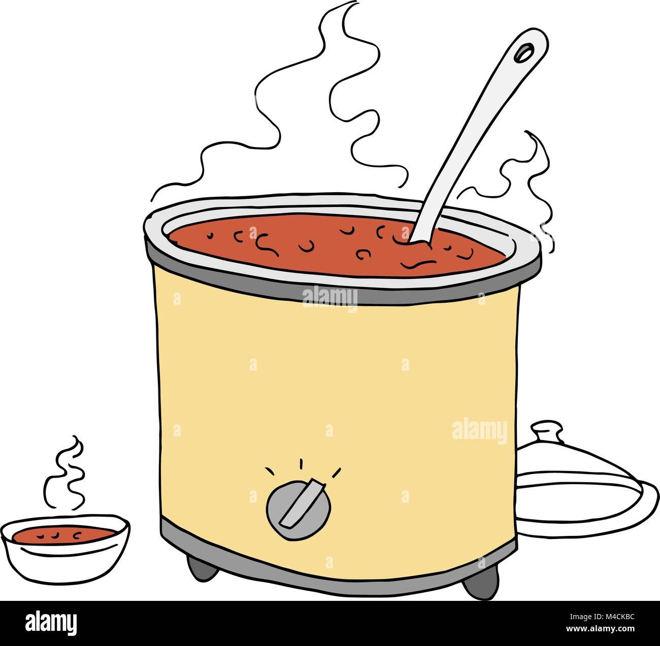 Cartoon Electric Cooker ~ Slow cooker cartoon stock photos