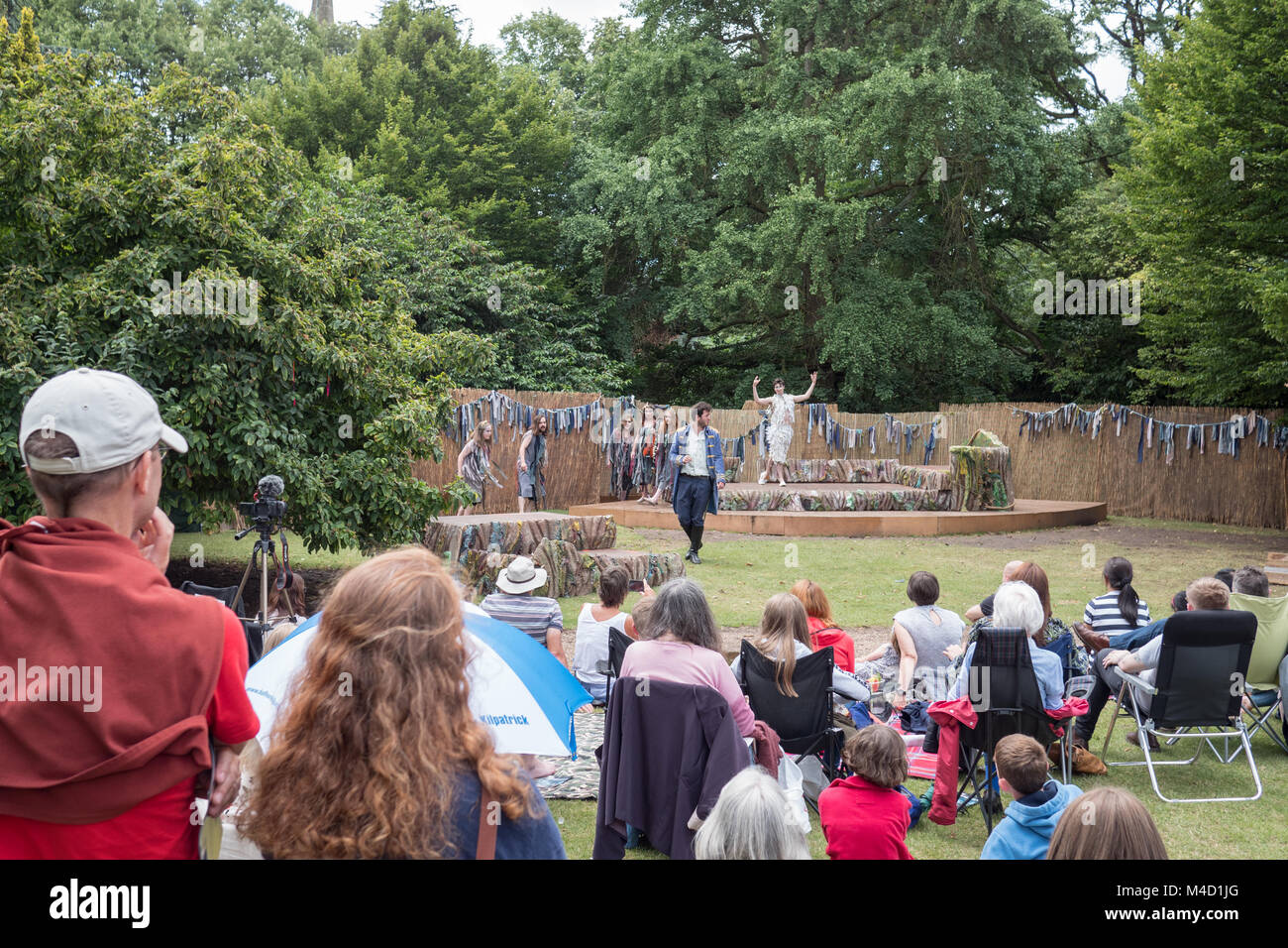 Actors performing at The Dell outdoor theatre in Stratford upon Avon Warwickshire England UK - Stock Image