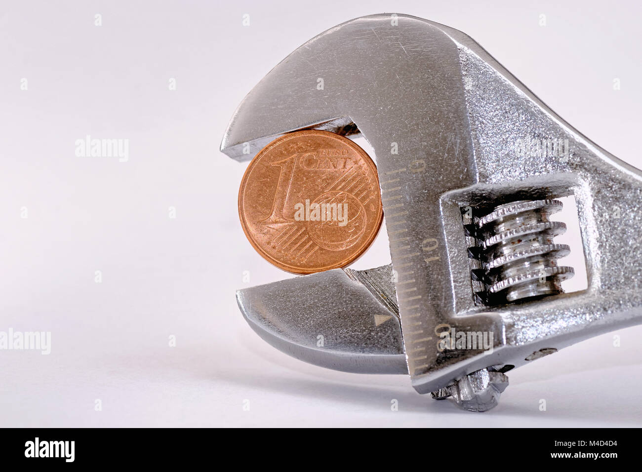 one euro cent - Stock Image
